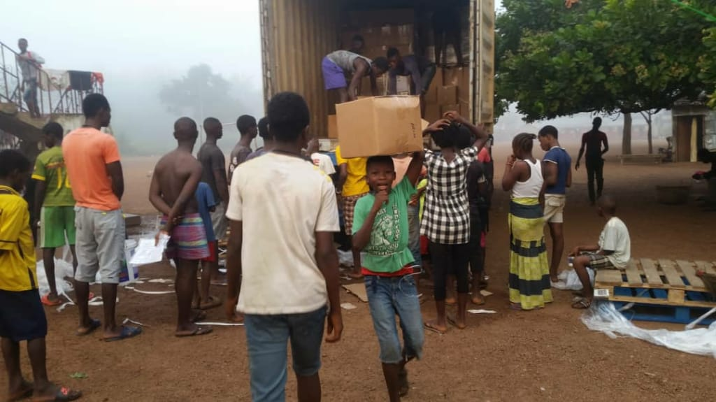 Books arriving in Sierra Leone