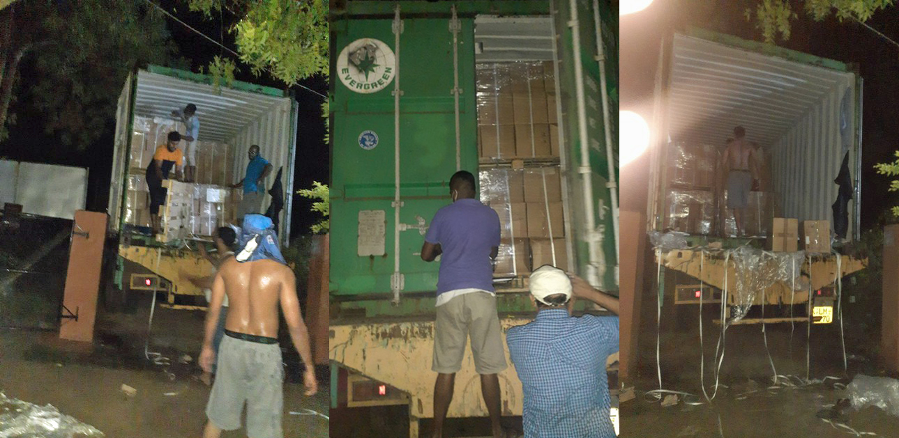 Sri Lanka shipment